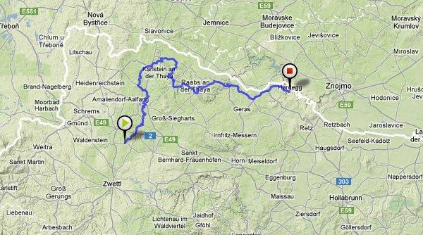 Údolím rieky thaya – rakúska časť