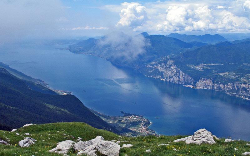 Výhľad z Monte Baldo