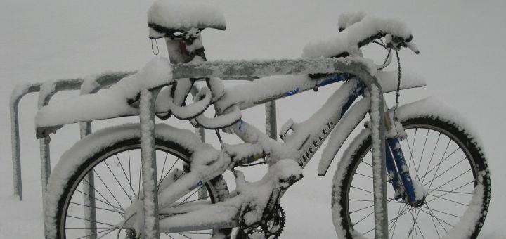 Zimná príprava bicykla