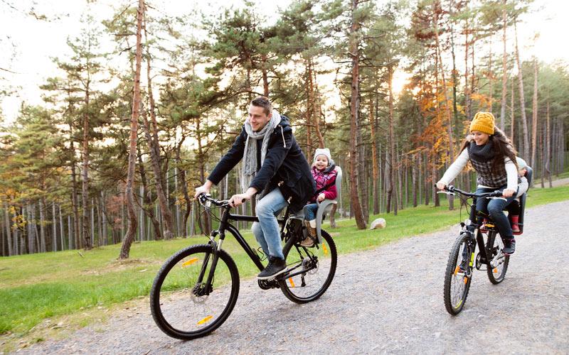 Zadná sedačka na bicykel